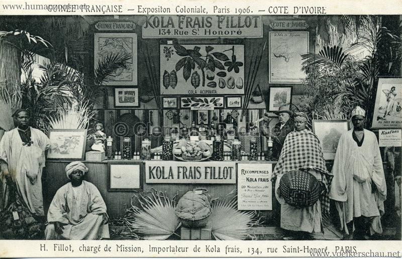1906 Exposition Coloniale Paris - Guinée Française & Cote d'Ivoire - Kola Fras