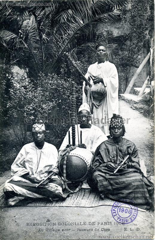 1906 Exposition Coloniale Paris - Village Noir - Joueurs de Cora