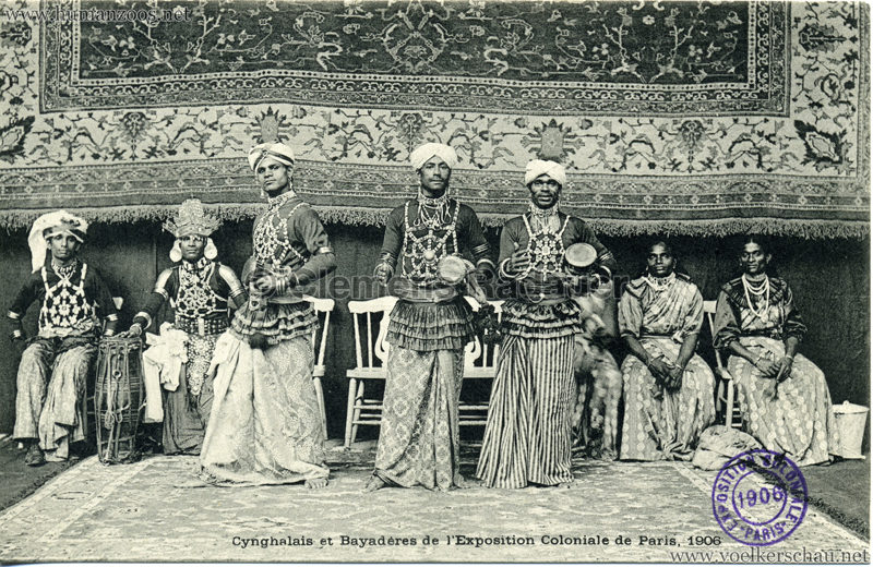 1906 Exposition Coloniale de Paris - Cynghalais et Bayaderes