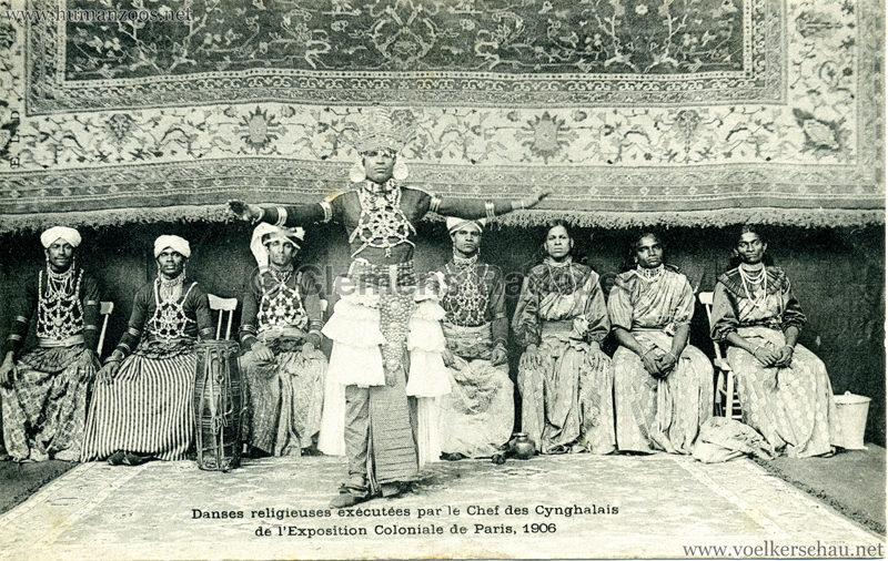 1906 Exposition Coloniale de Paris - Danses religieuses exécutées par le Chef des Cynghalais