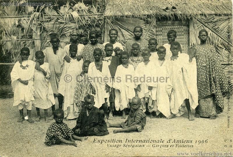 1906 Exposition Internationale d'Amiens - Village Sénegalais - Garçon et Fillettes