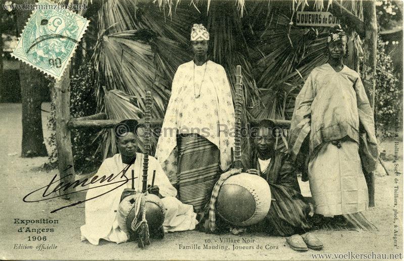 1906 Exposition d'Angers - 10. Au Village Noir - Famille Mauding, Joueurs de Cora