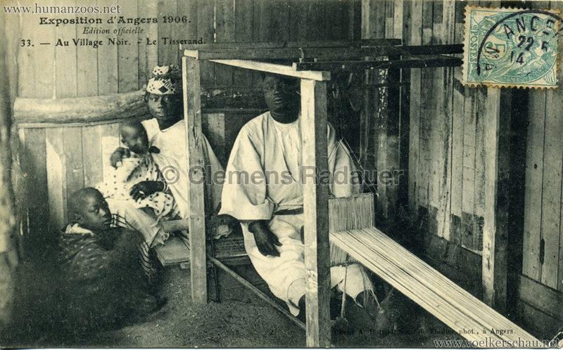 1906 Exposition d'Angers - 33. Au Village Noir - Le Tisserand