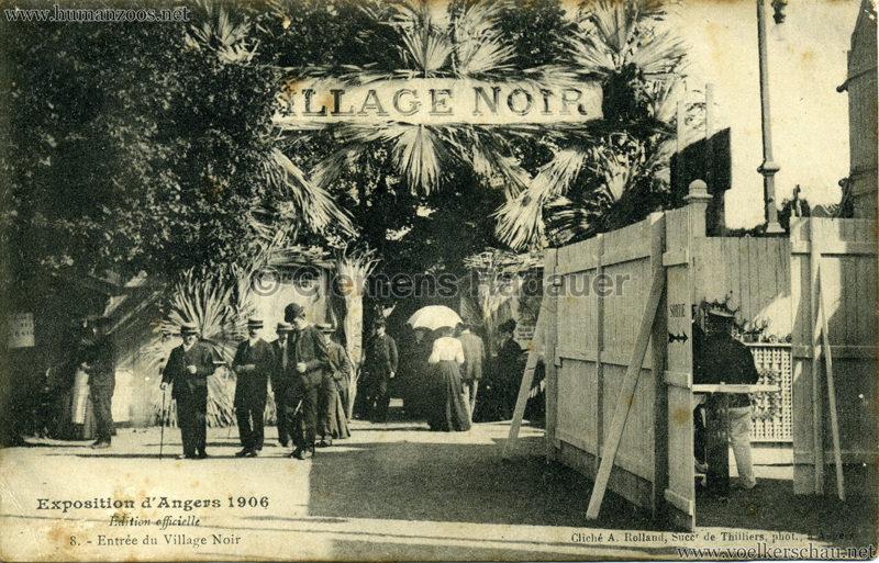 1906 Exposition d'Angers - 8. Entree du Village Noir