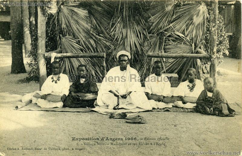 1906 Exposition d'Angers - 9. Village Noir - Marabout et ses Elèves à l'Ecole