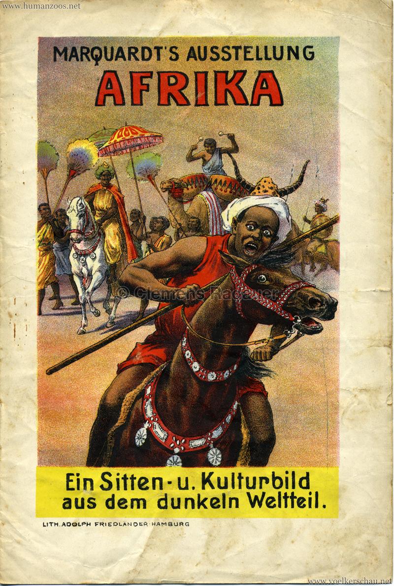 1906 Marquardt's Ausstellung Afrika - Ein Sitten- u. Kulturbild aus dem dunkeln Weltteil
