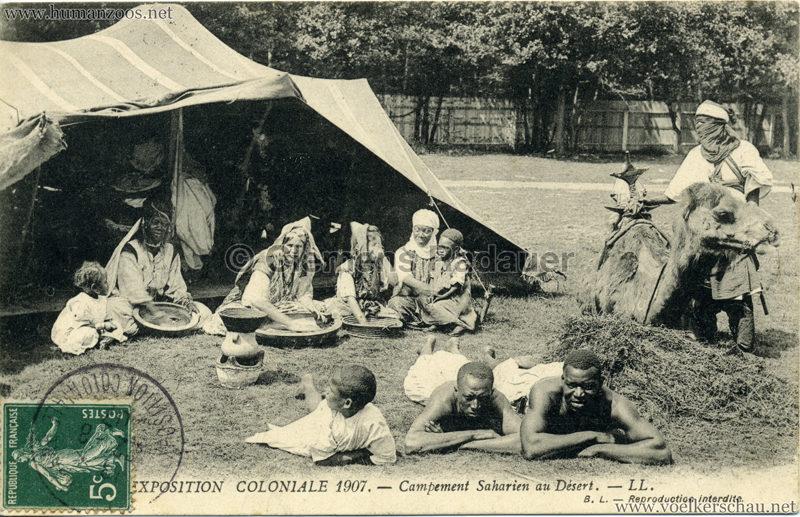 1907 Exposition Coloniale Paris, Bois de Vincennes - 103. Campement Saharien au Désert