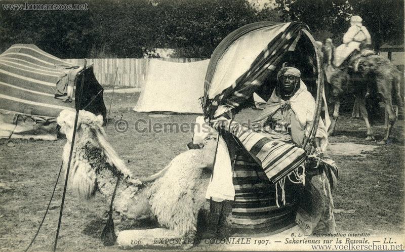 1907 Exposition Coloniale Paris, Bois de Vincennes - 106. Sahariennes sur la Basoule