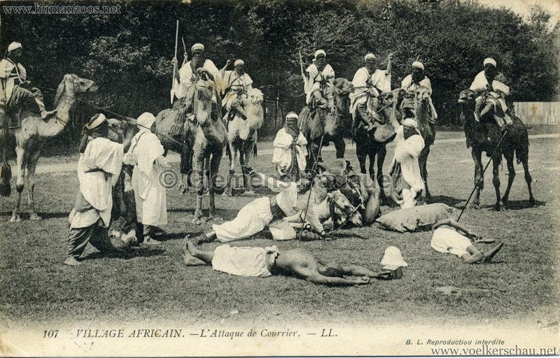 1907 Exposition Coloniale Paris, Bois de Vincennes - 107. L'Attaque du Courrier
