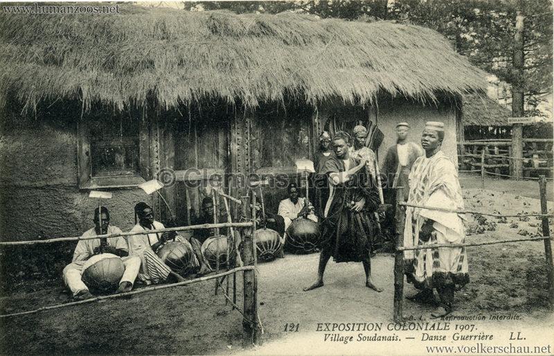 1907 Exposition Coloniale Paris, Bois de Vincennes - 121. Village Soudanais - Danse guerrière
