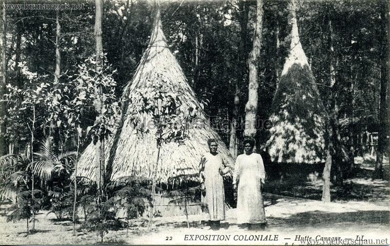 1907 Exposition Coloniale Paris, Bois de Vincennes - 22. Hutte Canaque