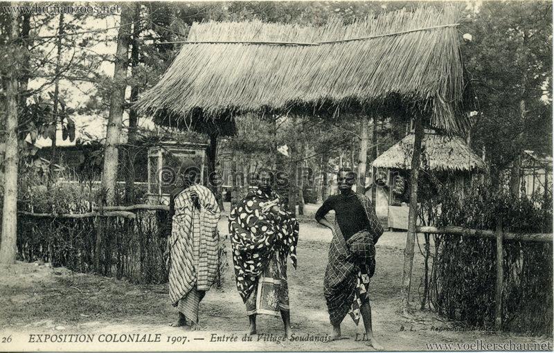 1907 Exposition Coloniale Paris, Bois de Vincennes - 26. Entrée du Village Soudanais
