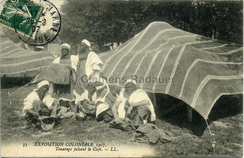1907 Exposition Coloniale Paris, Bois de Vincennes - 33. Touaregs faisant le Café