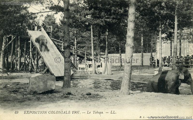 1907 Exposition Coloniale Paris, Bois de Vincennes - 49. Le Toboga