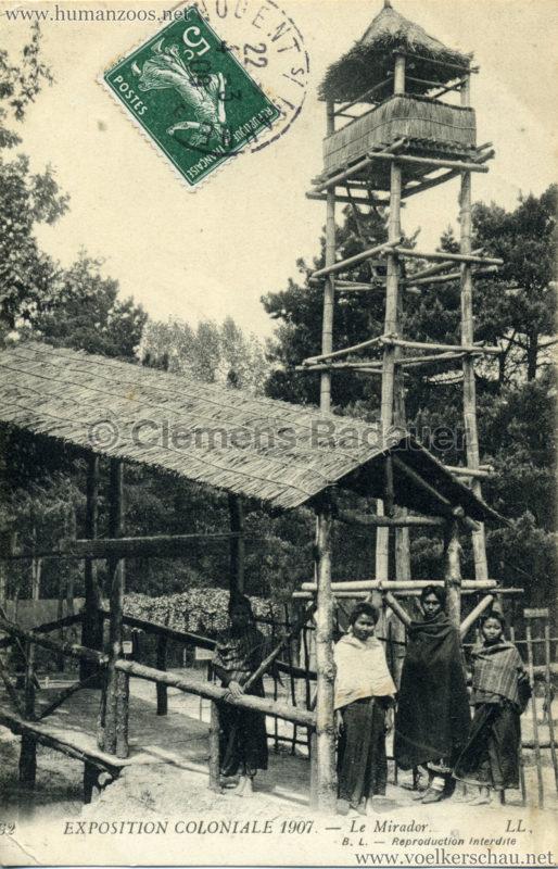 1907 Exposition Coloniale Paris, Bois de Vincennes - 62. Le Mirador et Entrée du Pont Cochinois