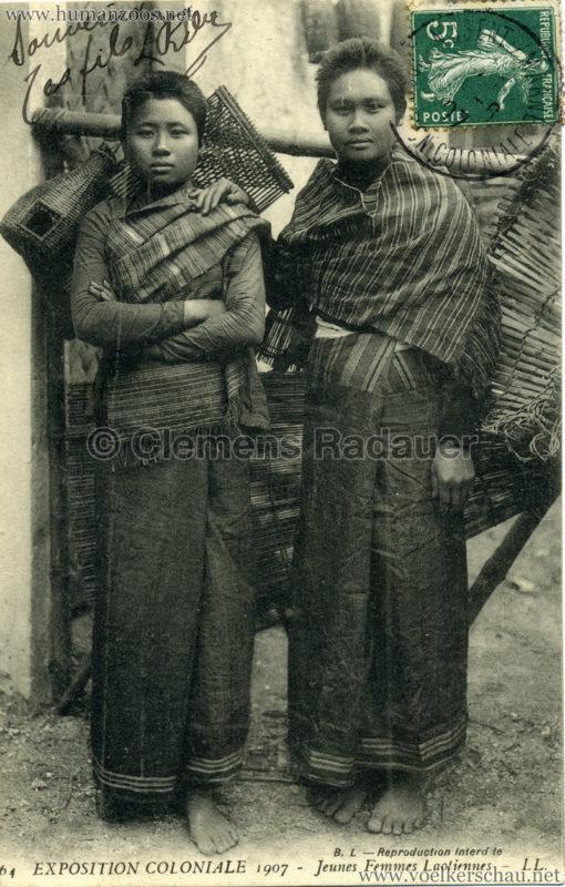 1907 Exposition Coloniale Paris, Bois de Vincennes - 64. Jeunes Femmes Laotiennes