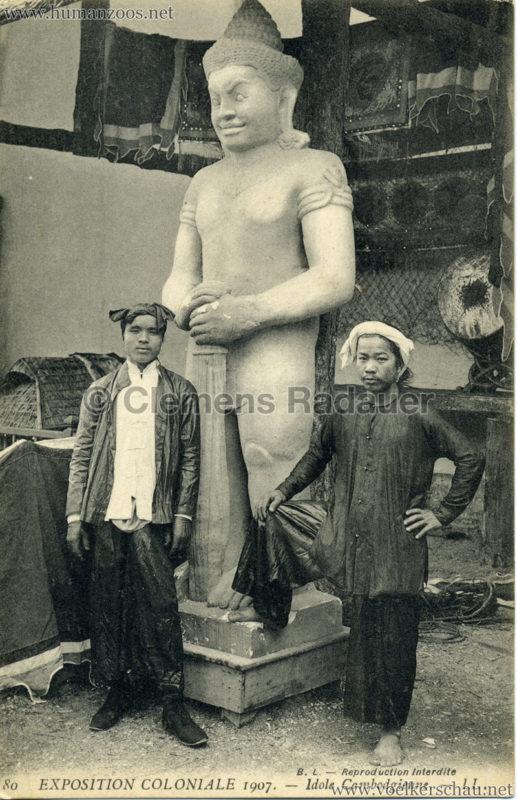 1907 Exposition Coloniale Paris, Bois de Vincennes - 80. Idole Cambodgienne
