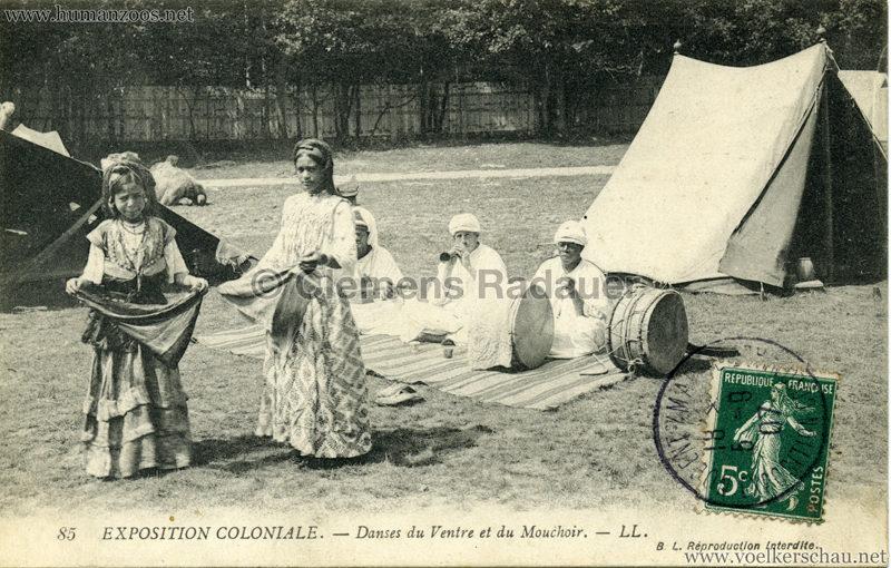 1907 Exposition Coloniale Paris, Bois de Vincennes - 85. Danses du Ventre et du Mouchoir