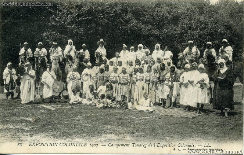 1907 Exposition Coloniale Paris, Bois de Vincennes - 88. Campement Touareg de l'Exposition Coloniale