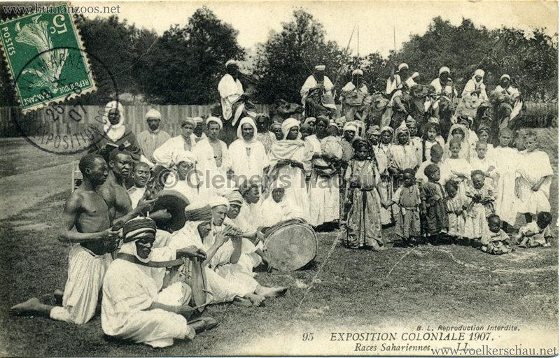 1907 Exposition Coloniale Paris, Bois de Vincennes - 95. Races Sahariennes