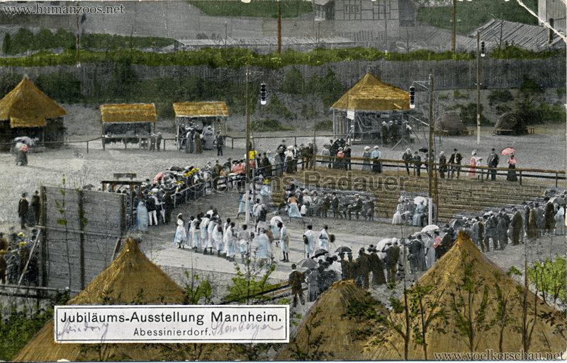 1907 Jubiläumsausstellung Mannheim - Abyssinisches Dorf 2