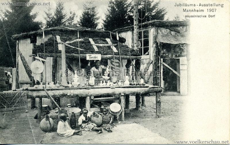 1907 Jubiläumsausstellung Mannheim - Abyssinisches Dorf 7