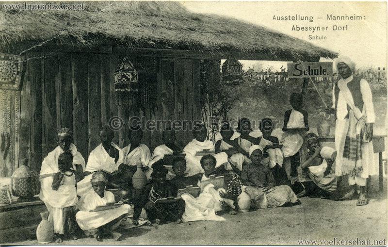 1907 Jubiläumsausstellung Mannheim - Abyssinisches Dorf 5