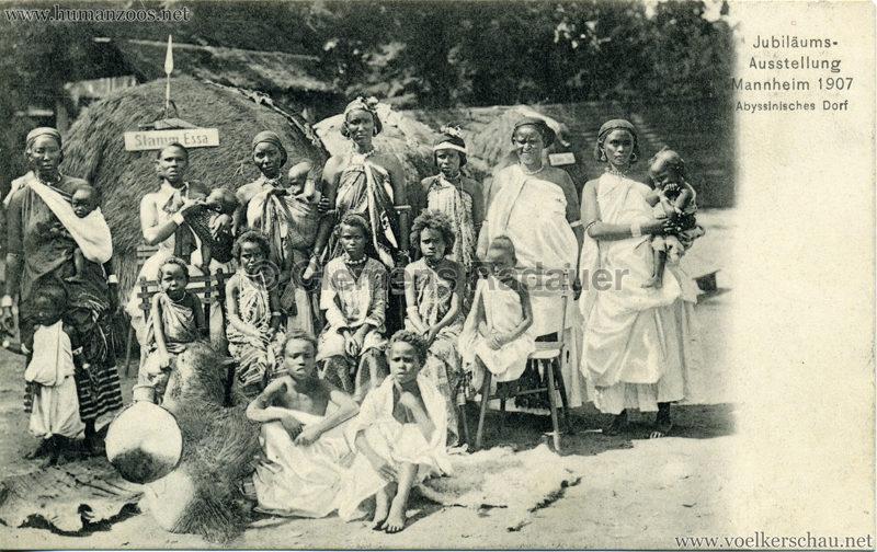 1907 Jubiläumsausstellung Mannheim - Abyssinisches Dorf 4