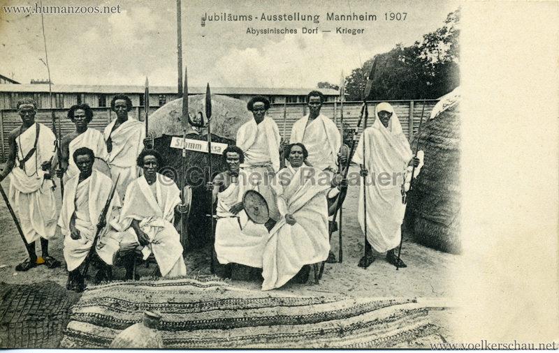 1907 Jubiläumsausstellung Mannheim - Abyssinisches Dorf 3