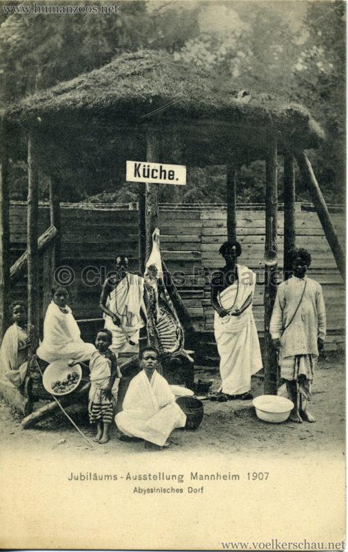 1907 Jubiläumsausstellung Mannheim - Abyssinisches Dorf 6