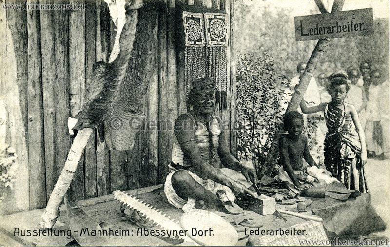 1907 Jubiläumsausstellung Mannheim - Abyssinisches Dorf 8