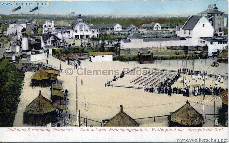 1907 Jubiläumsausstellung Mannheim - Abyssinisches Dorf 1