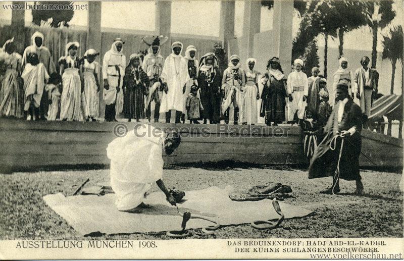 1908 Ausstellung München - Das Beduinendorf - 49. Hadj Abd-El-Kader
