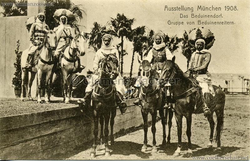1908 Ausstellung München - Das Beduinendorf - 82. Gruppe von Beduinenreitern