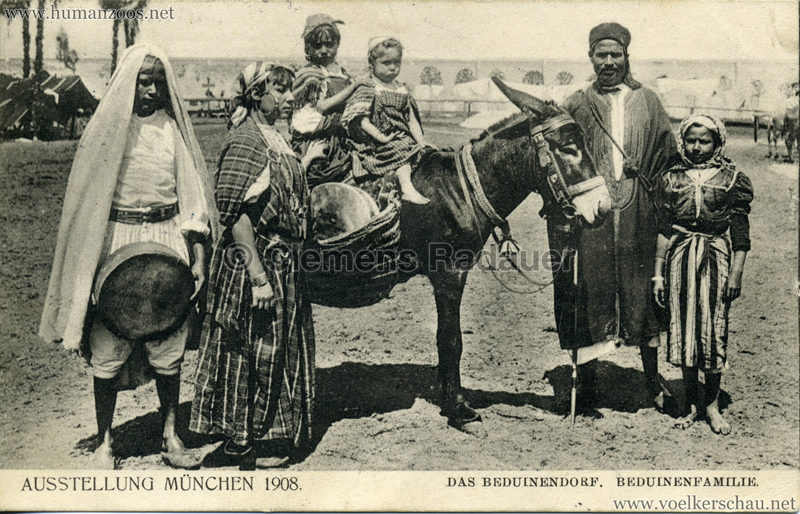 1908 Ausstellung München - Das Beduinendorf - 84. Beduinenfamilie