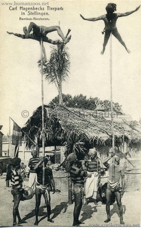 1908 (?) Carl Hagenbecks Tierpark in Stellingen. Völkerschau Indien - 426. Bambus-Akrobaten