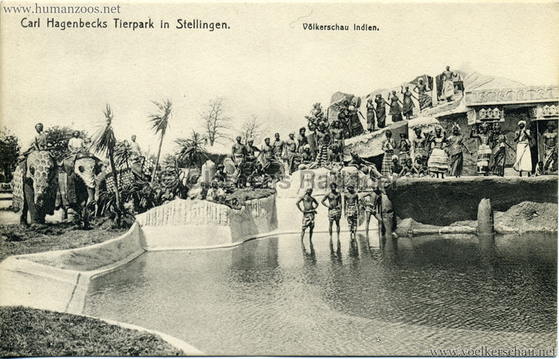 1908 (?) Carl Hagenbecks Tierpark in Stellingen. Völkerschau Indien - 430.