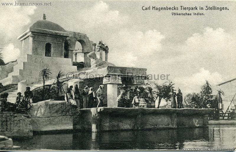 1908 (?) Carl Hagenbecks Tierpark in Stellingen. Völkerschau Indien - 432.