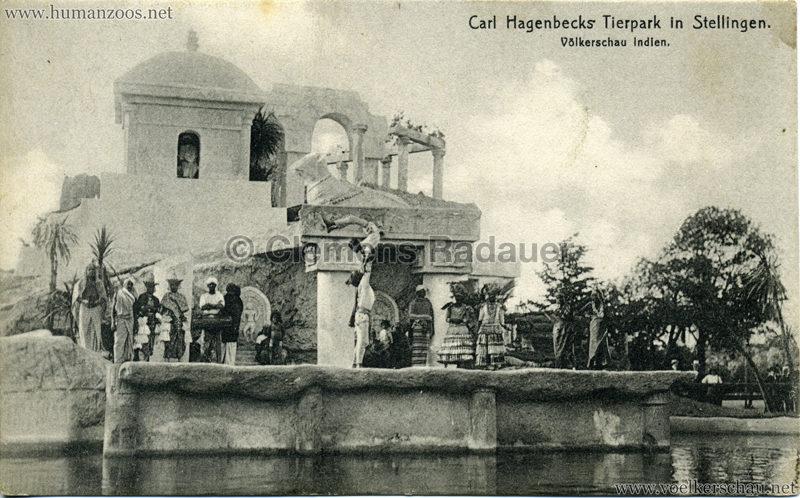 1908 (?) Carl Hagenbecks Tierpark in Stellingen. Völkerschau Indien - 433.