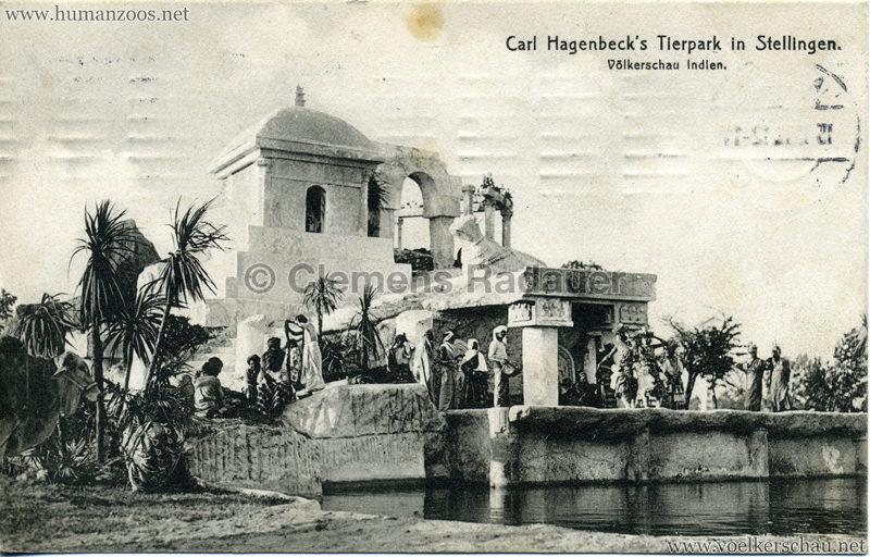 1908 (?) Carl Hagenbecks Tierpark in Stellingen. Völkerschau Indien - 434.