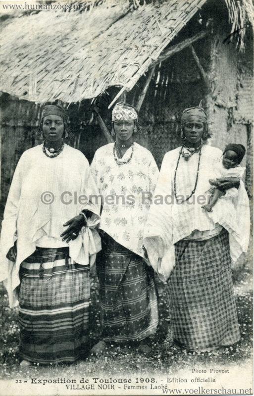 1908 Exposition de Toulouse - 22. Village Noire - Femme Laobé