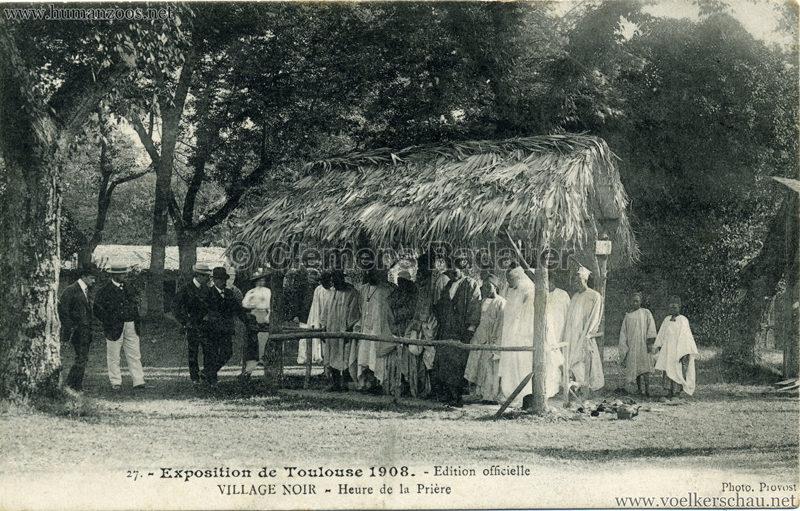 1908 Exposition de Toulouse - 27. Village Noir - Heure de la Prière