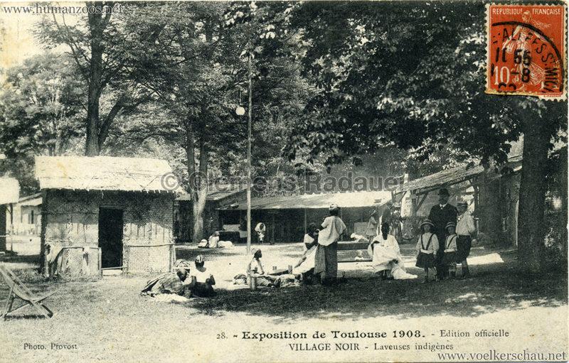 1908 Exposition de Toulouse - 28. Village Noir - Laveuses indigènes