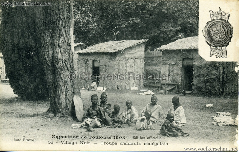 1908 Exposition de Toulouse - 53. Village Noir - Groupe d'enfants sénégalais