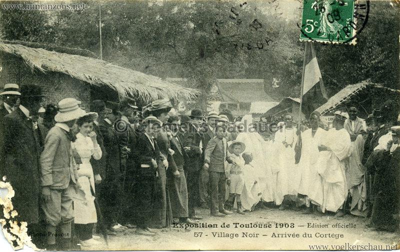1908 Exposition de Toulouse - 57. Village Noir - Arivée du Cortège