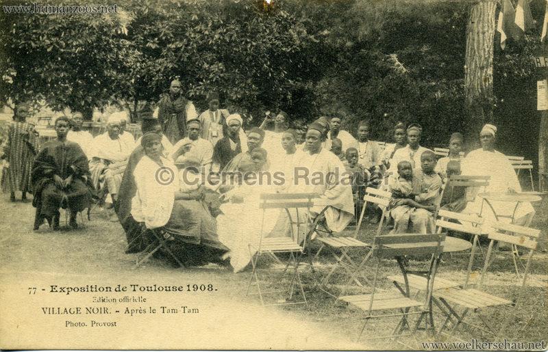 1908 Exposition de Toulouse - 77. Village Noir - Après le Tam Tam
