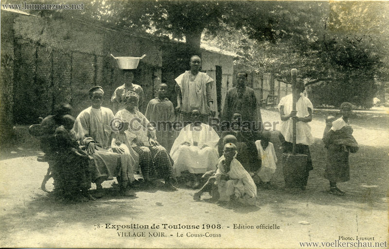 1908 Exposition de Toulouse - 78. Village Noir - Le Couss-Couss