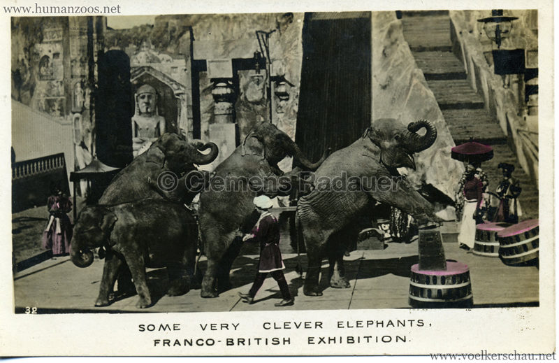 1908 Franco-British Exhibition - 32. Some very clever elephants