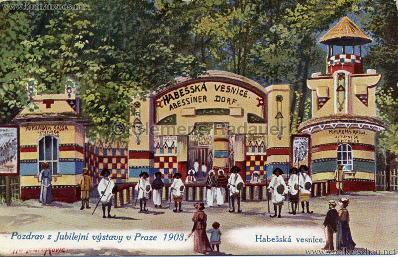 1908 Jubilejni vystava Praha, Abessinska vesnica 2