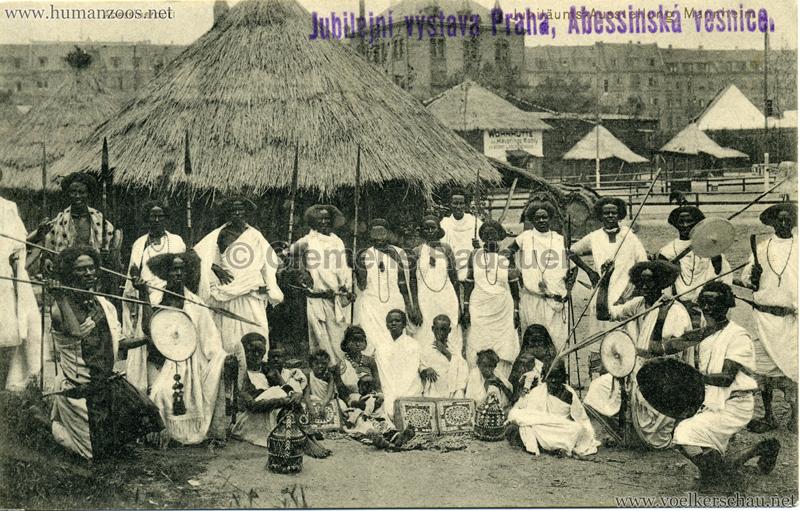 1908 Jubilejni vystava Praha, Abessinska vesnica 3